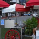 sexy hot dog cart