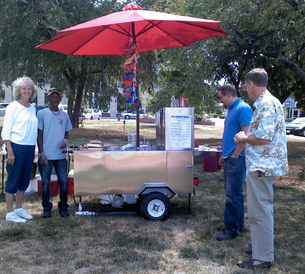 Pam's Big Dog Hot dog cart