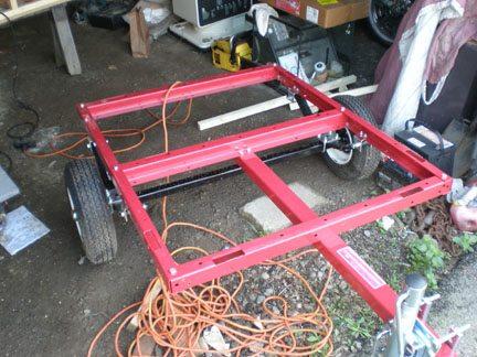 hot dog cart build