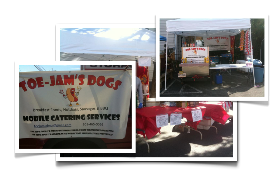 Toe-Jam's Dogs hot dog cart