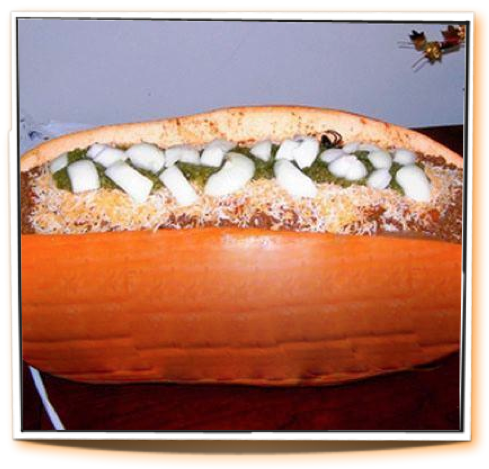 Pumpkin Hot Dog