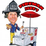 fireman jake's hot dog cart logo