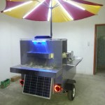 solar powered hot dog cart