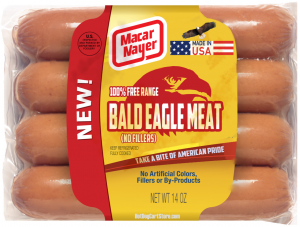 bald eagle hot dogs
