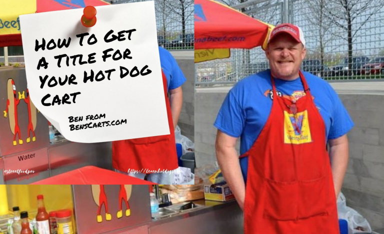 replacing a lost title to a hot dog cart
