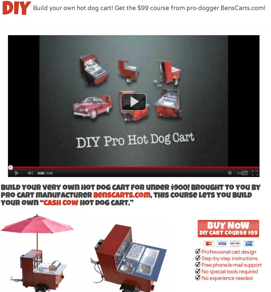 Build a hot dog cart plans