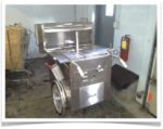 hot dog push cart