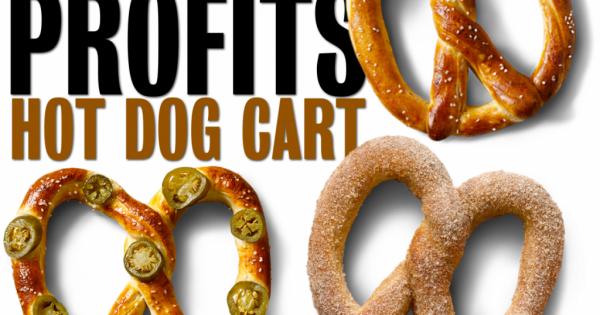 pretzels hot dog cart
