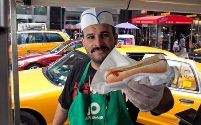 hot dog vendor work