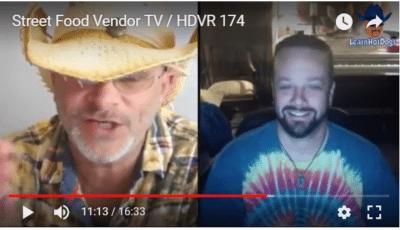 Street Food Vendor TV HDVR 174