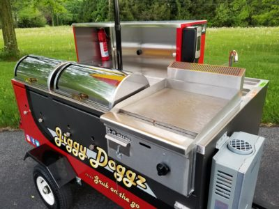Wrapping A Hot Dog Cart