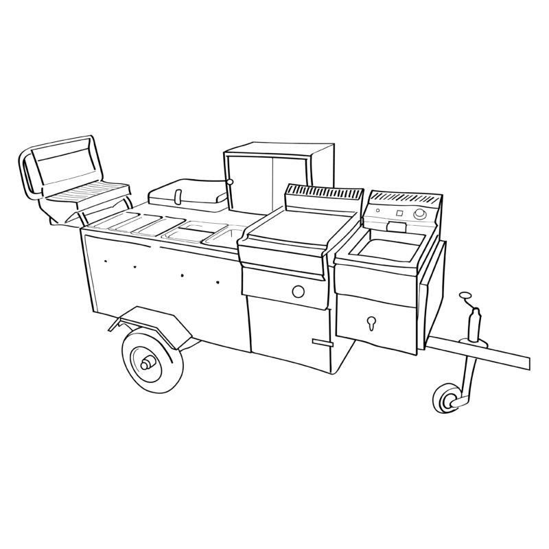 catering with a hot dog cart
