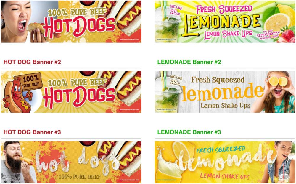 lemonade banners