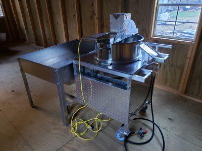 testing the kettle corn machine