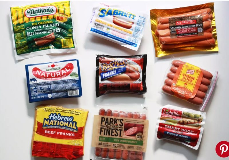 image of multiple hot dog brands