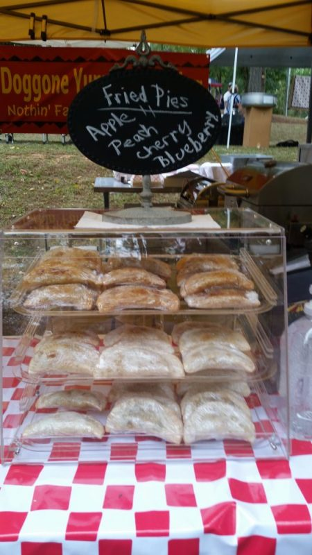 tammi's fried pies on display