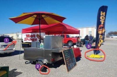Hot Dog Vendor Setup