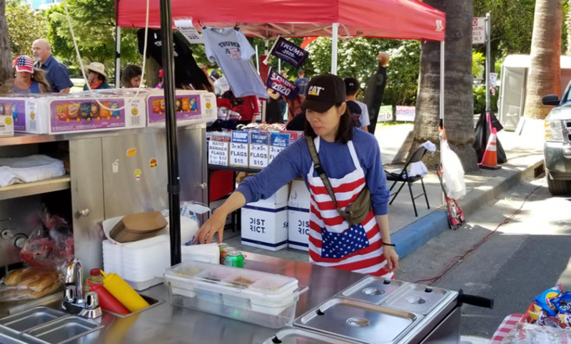 Why Is Hot Dog Vending Booming? Vendors United member just setting it up