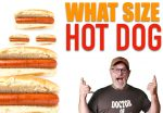 what size hot dogs should I serve