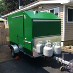 custom cart green exterior