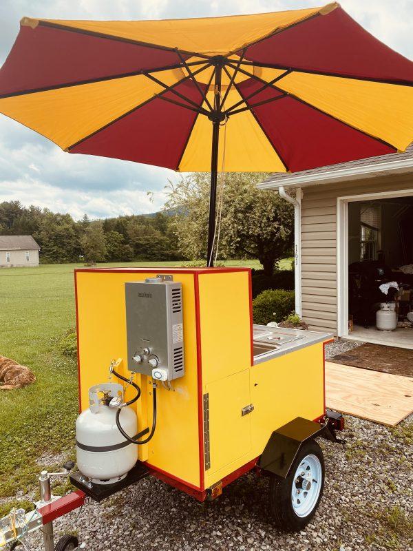 Build a Cart - DIY hot dog cart propane tank and water heater