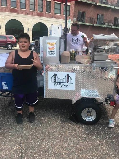 hot dog cart success