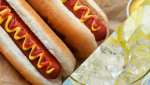 hot dogs and lemonade