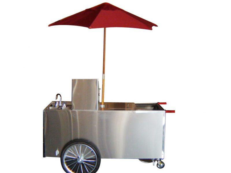 small hand push hot dog cart